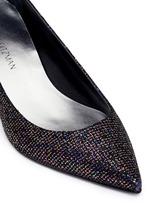 'Disco Poco' Swarovski crystal heel glitter pumps