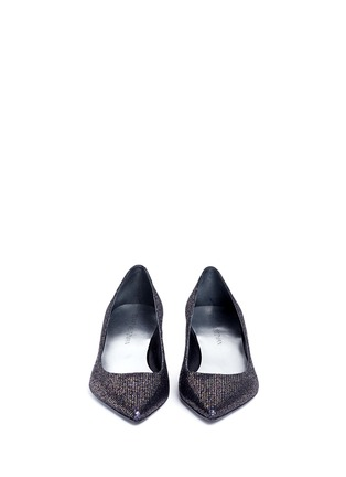 Front View - Click To Enlarge - Stuart Weitzman - 'Disco Poco' Swarovski crystal heel glitter pumps