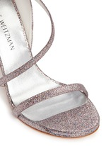 'Sultry' asymmetric strap glitter sandals