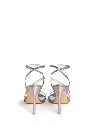 Back View - Click To Enlarge - Stuart Weitzman - 'Sultry' asymmetric strap glitter sandals