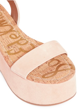 Detail View - Click To Enlarge - Sam Edelman - 'Henley' suede platform sandals