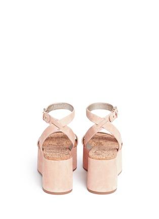 Back View - Click To Enlarge - Sam Edelman - 'Henley' suede platform sandals