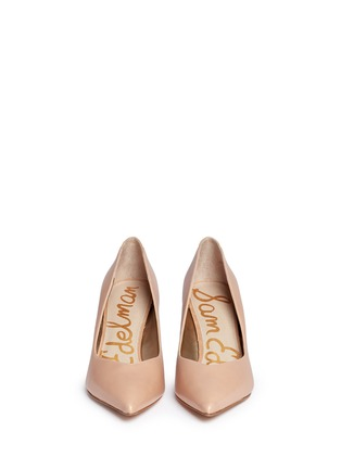Front View - Click To Enlarge - Sam Edelman - 'Orella' suede trim leather pumps