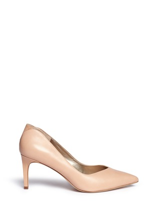 Main View - Click To Enlarge - Sam Edelman - 'Orella' suede trim leather pumps