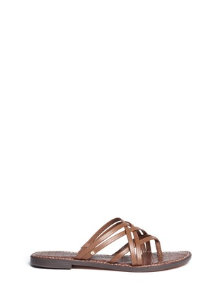 Main View - Click To Enlarge - Sam Edelman - 'Georgette' strappy slide sandals