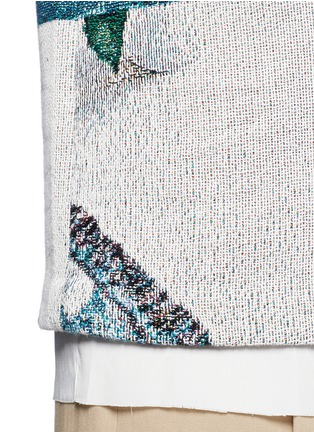 Detail View - Click To Enlarge - FFIXXED STUDIOS - 'Daniel' scenic floral print basketweave T-shirt