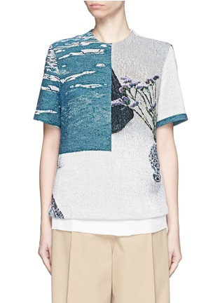 Main View - Click To Enlarge - FFIXXED STUDIOS - 'Daniel' scenic floral print basketweave T-shirt