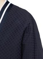 'Emperical' dot jacquard sash waist coat