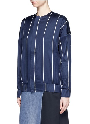 Front View - Click To Enlarge - FFIXXED STUDIOS - 'Unity' stripe silk-cotton bomber jacket