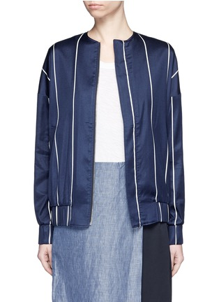 Main View - Click To Enlarge - FFIXXED STUDIOS - 'Unity' stripe silk-cotton bomber jacket