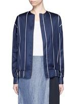 'Unity' stripe silk-cotton bomber jacket