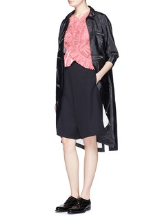 ANGEL CHEN Zip detail crinkled long shirt
