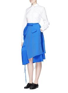 ANGEL CHENDeconstructed shirt poplin skirt