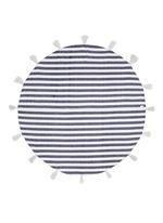 Tassel stripe round blanket