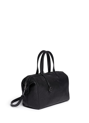Figure View - Click To Enlarge - Elizabeth and James - 'Scott' crosshatch leather duffel bag