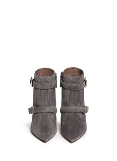 TABITHA SIMMONS'Fitz' buckle strap suede stiletto boots