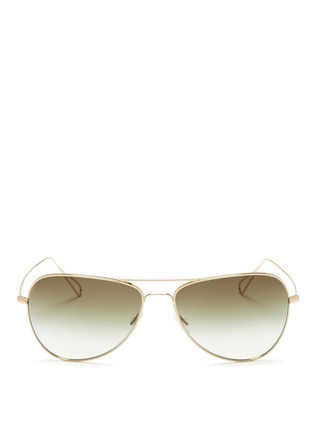 Main View - Click To Enlarge - Oliver Peoples - x Isabel Marant 'Matt' lightweight aviator sunglasses