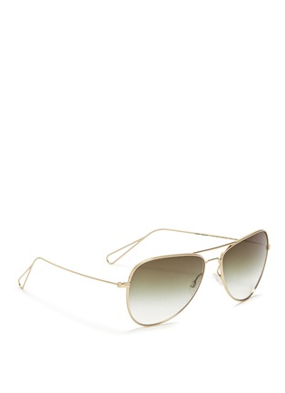 Figure View - Click To Enlarge - Oliver Peoples - x Isabel Marant 'Matt' lightweight aviator sunglasses