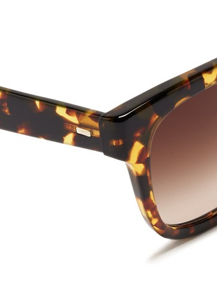 细节 - 点击放大 - OLIVER PEOPLES - 'Brinley' tortoiseshell acetate square sunglasses