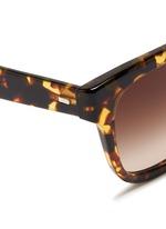 'Brinley' tortoiseshell acetate square sunglasses