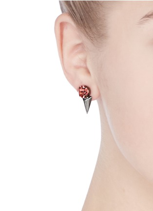 Figure View - Click To Enlarge - Joomi Lim - 'Vicious Love' crystal spike drop earrings