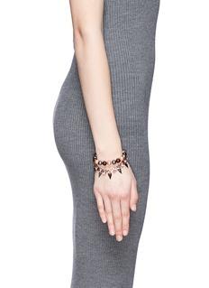 JOOMI LIM'Vicious Love' crystal pearl spike bracelet