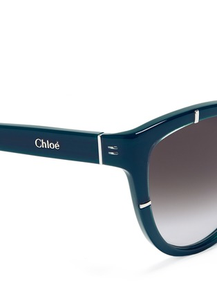 Detail View - Click To Enlarge - Chloé - Oversized cat eye sunglasses