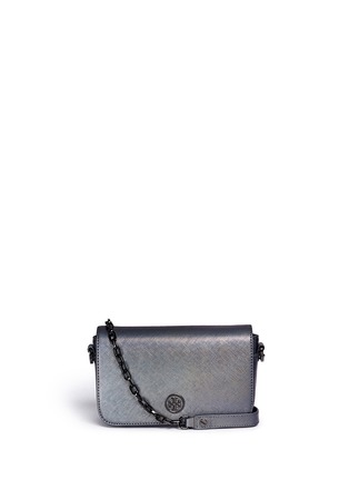 Main View - Click To Enlarge - Tory Burch - 'Robinson' ologram adjustable mini bag
