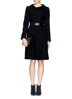 ARMANI COLLEZIONITweed wool blend coat