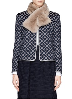 ARMANI COLLEZIONIRabbit fur loop scarf