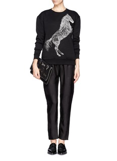 STELLA MCCARTNEY Dot jacquard zip cuff jogging pants