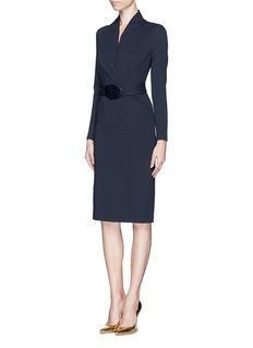 ARMANI COLLEZIONIWrap front Milano knit dress
