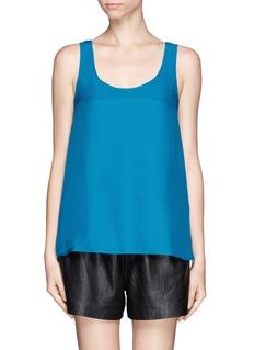 VINCEScoop neck silk sleeveless blouse