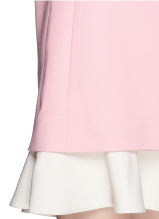 Detail View - Click To Enlarge - Valentino - Crepe Couture flounce hem dress