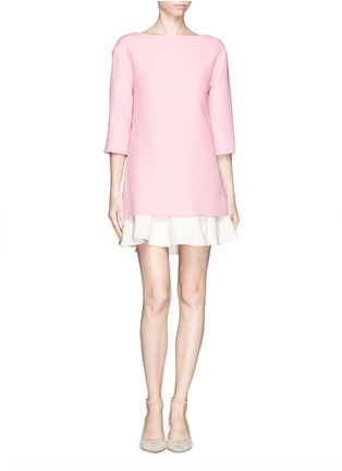 Main View - Click To Enlarge - Valentino - Crepe Couture flounce hem dress