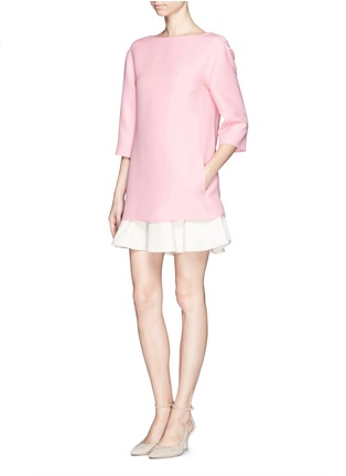 Figure View - Click To Enlarge - Valentino - Crepe Couture flounce hem dress