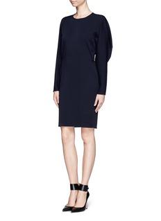 LANVINDrape shoulder wool dress