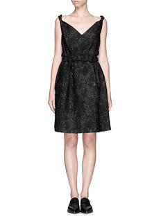 LANVINShiny brocade twist strap dress