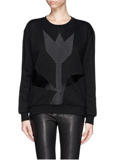 STELLA MCCARTNEYGeometric patchwork sweatshirt