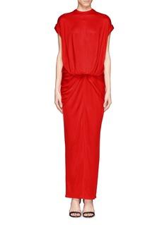 GIVENCHYTwist front shiny jersey maxi dress