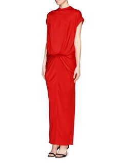 GIVENCHY Twist front shiny jersey maxi dress