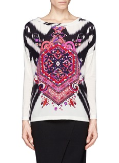 EMILIO PUCCISuzani print crepe de Chine front T-shirt