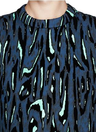 Proenza Schouler-Flock velvet moiré crop top