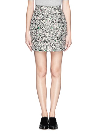 Main View - Click To Enlarge - Proenza Schouler - Carpet pad jacquard skirt