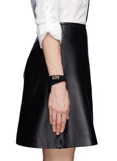 GIVENCHY Double wrap shark tooth pony hair bracelet