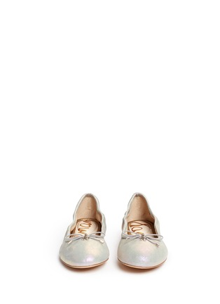 Front View - Click To Enlarge - Sam Edelman - 'Felicia' metallic leather ballet flats