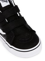'SK8-Mid Reissue V' bandana print canvas suede toddler sneakers