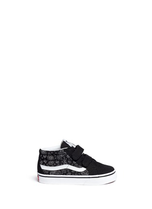 Main View - Click To Enlarge - Vans - 'SK8-Mid Reissue V' bandana print canvas suede toddler sneakers