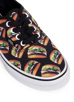 'Authentic Late Night' hamburger print canvas kids sneakers