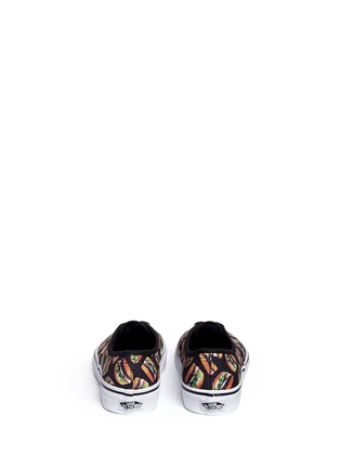 Back View - Click To Enlarge - Vans - 'Authentic Late Night' hamburger print canvas kids sneakers